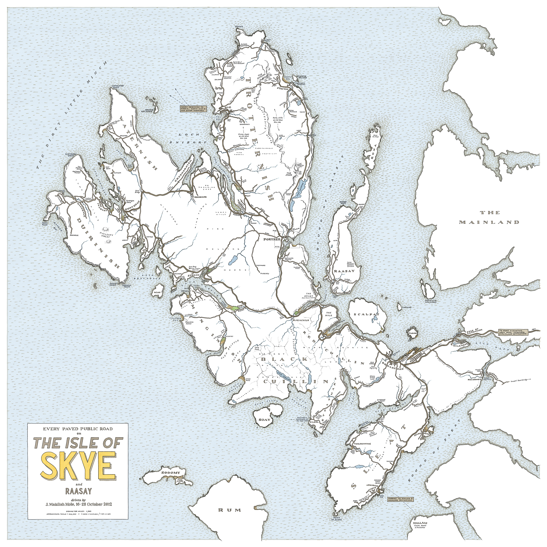 Isle Of Skye Map  My blog