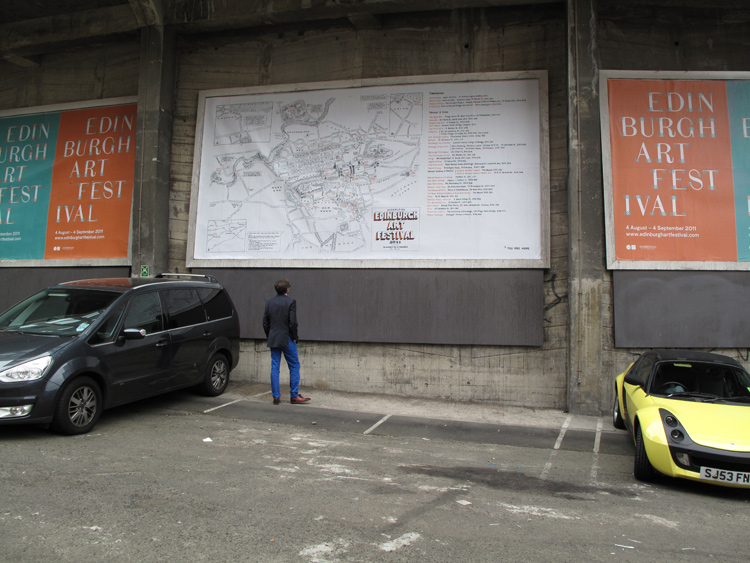 Sites of the Edinburgh Art Festival (Billboard)